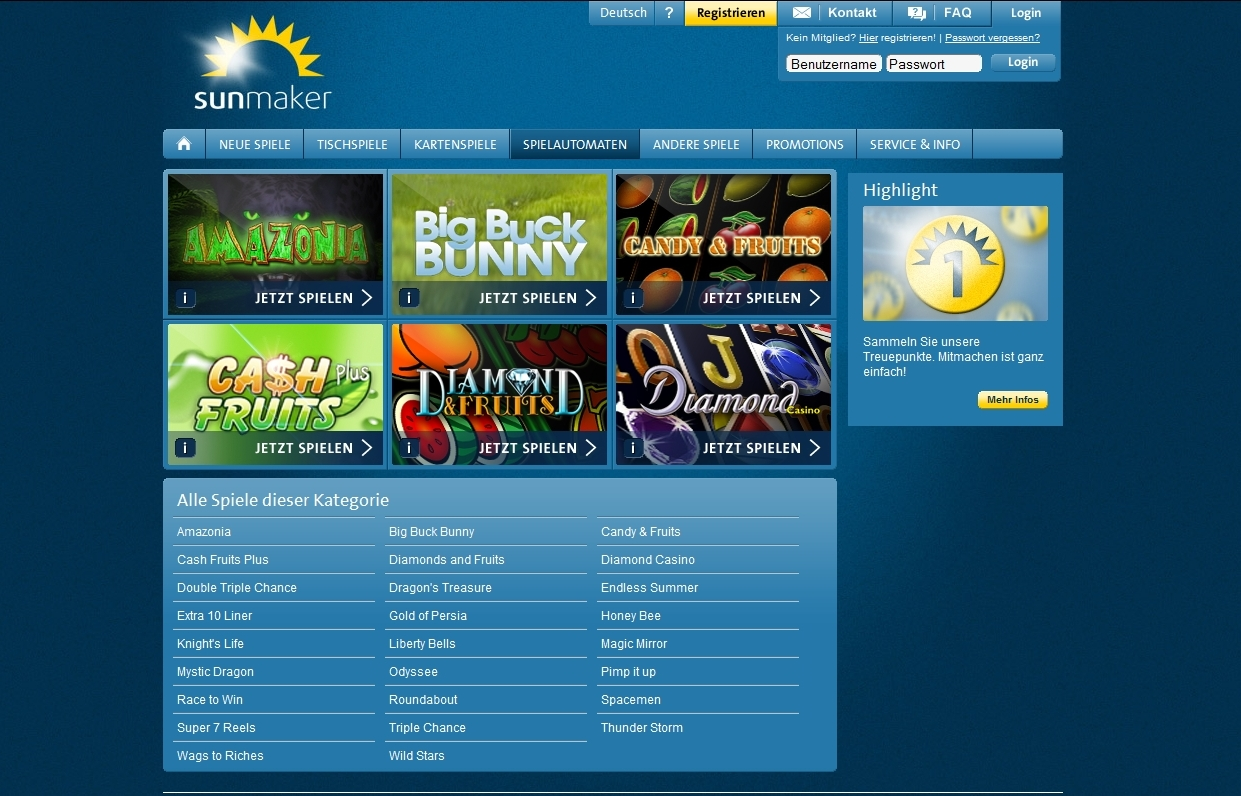 online casino sunmaker casino on line