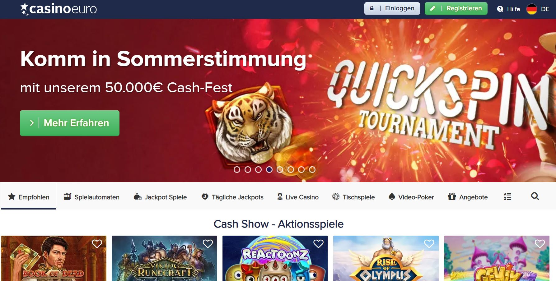 Casino Euro Vorschau