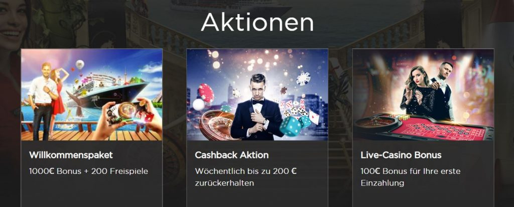 Casino Cruise Aktionen