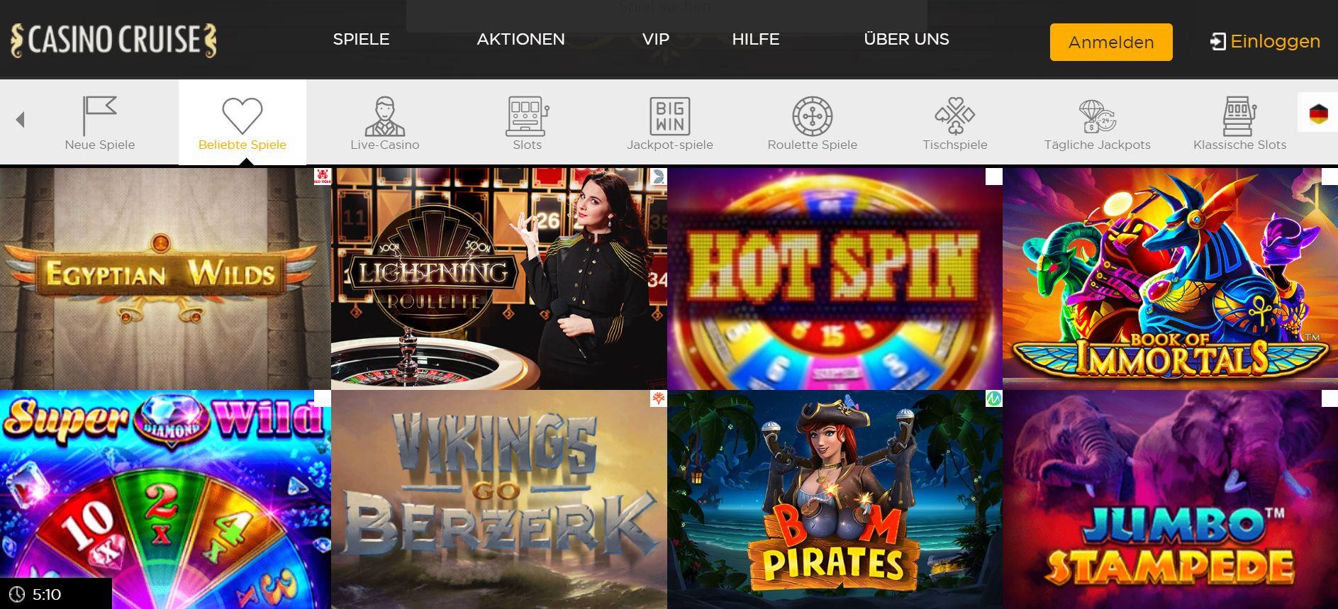 Vorschau zum Casino Cruise